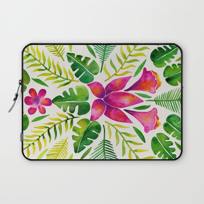 Tropical Symmetry – Pink & Green  •  laptop sleeve $36–$39