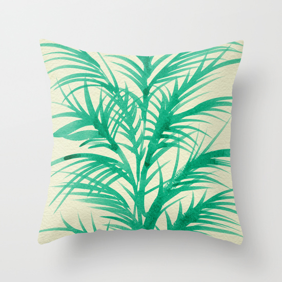 Mint Palms  •  throw pillow $20–$35