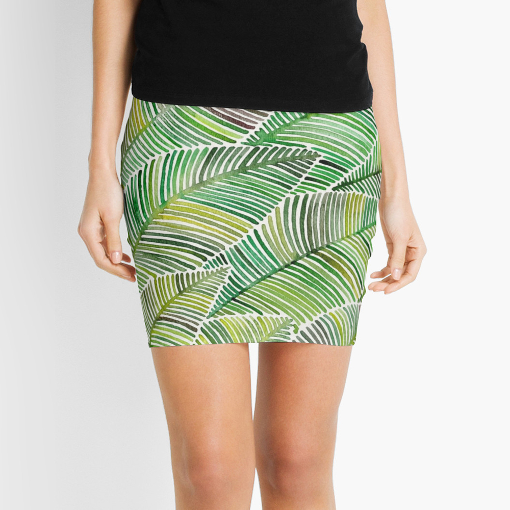Tropical Green  •  pencil skirt $35