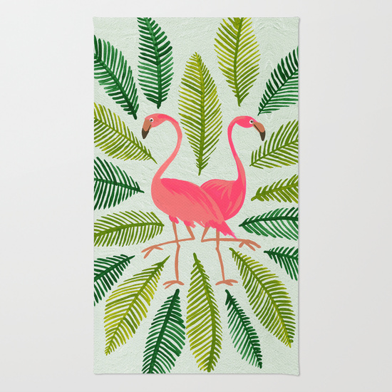 Flamingos • rug $28–$79