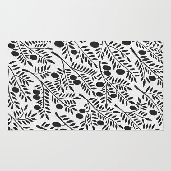 Black Olive Branches • rug $28–$79
