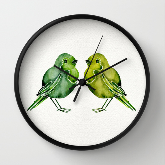 Parakeets • wall clock $30