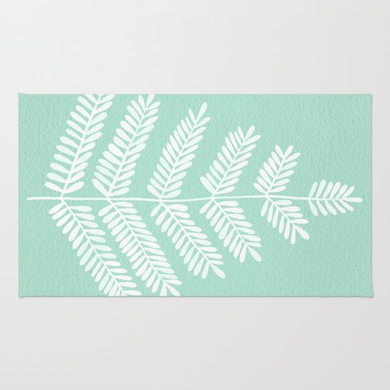 Mint Leaflets • rug $28–$79