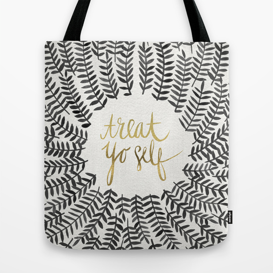 Treat Yo Self – Black & Gold   •  tote $18–$24