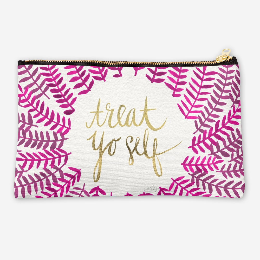 Treat Yo Self – Pink & Gold   •  studio pouch $24–$26