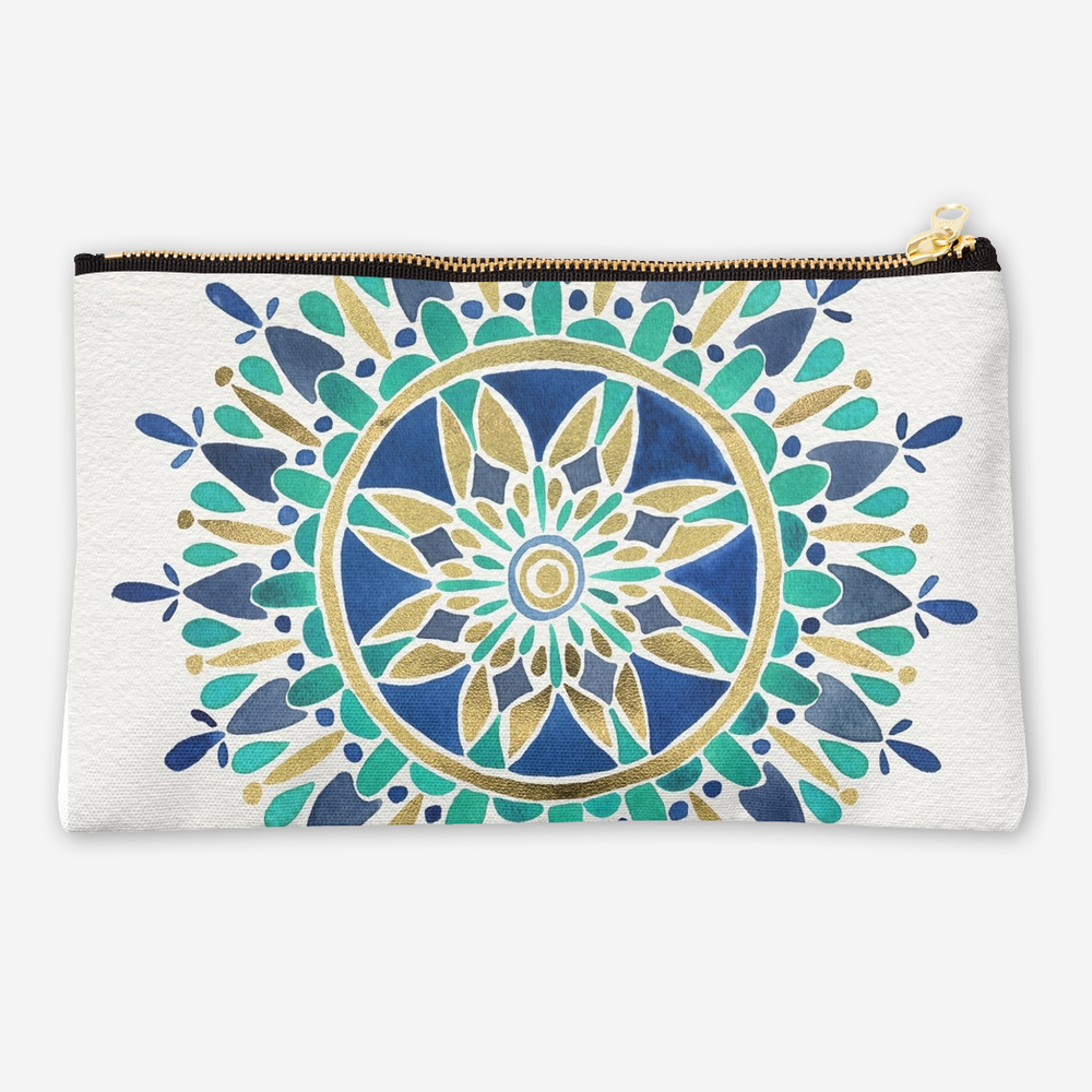 Mandala – Turquoise & Gold   •  studio pouch $24–$26