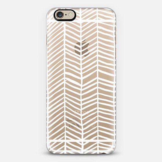 White Herringbone   •  phone case $40