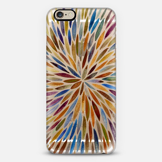 Watercolor Burst – Retro Palette   •  phone case $40