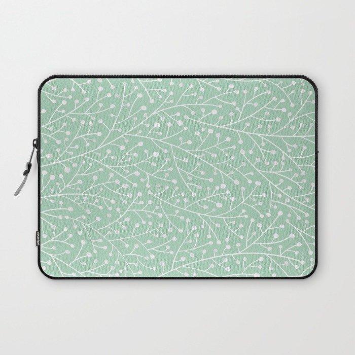 Mint Berry Branches   •  laptop sleeve $36–$39
