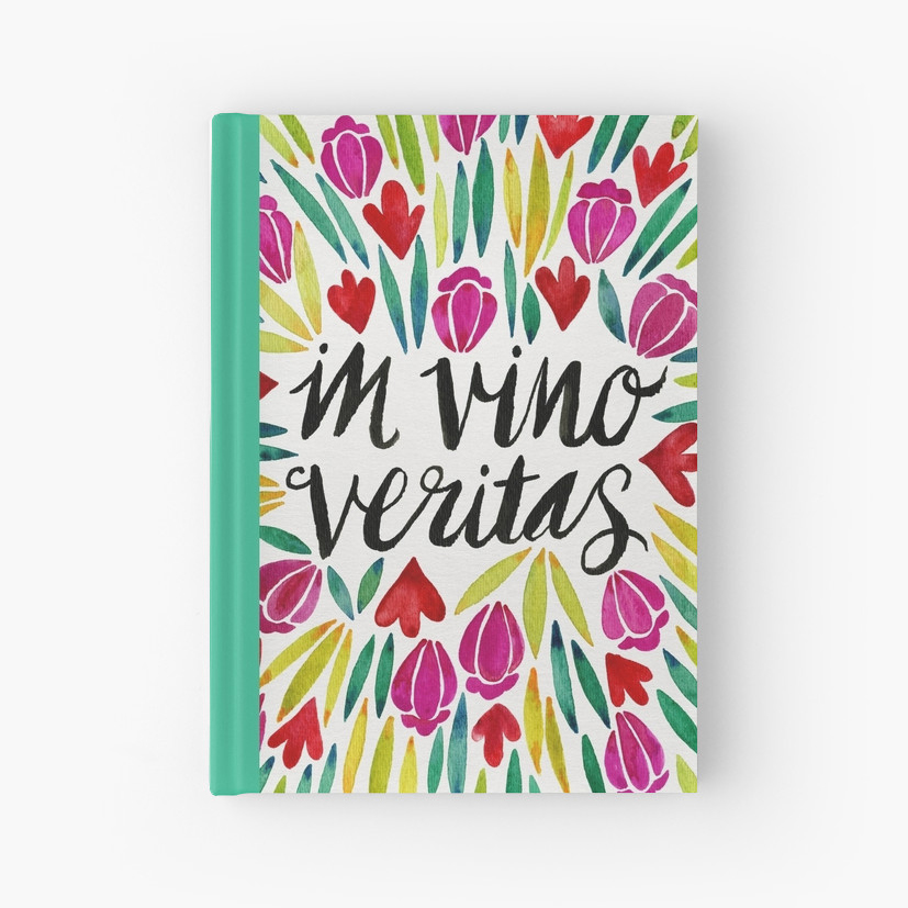 In Vino Veritas   •  hardcover journal $22