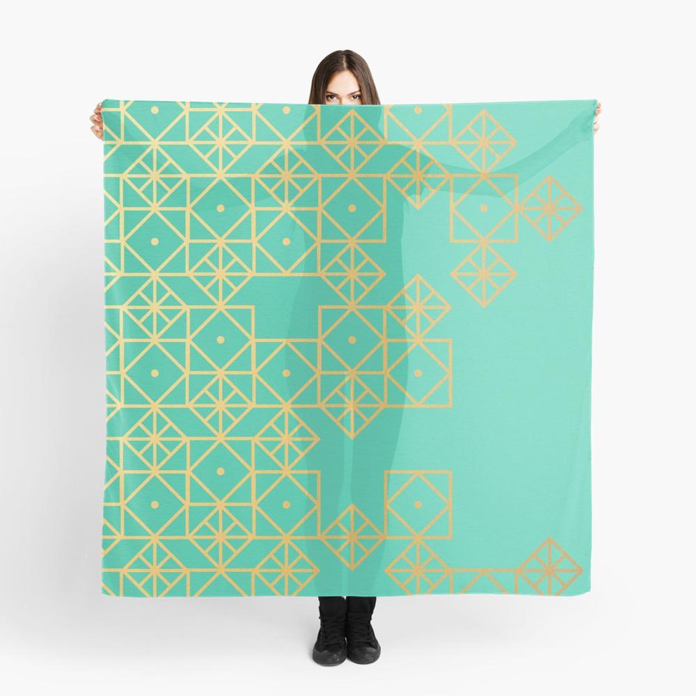 Geometric Turquoise • scarf $35