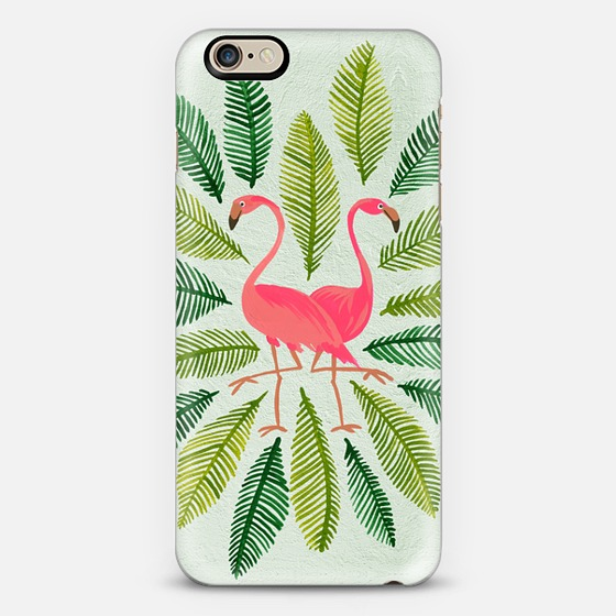 Flamingos & Fronds   •  phone case $40