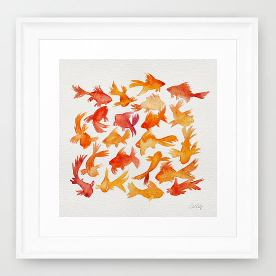 Goldfish  •  framed art print $35–$135