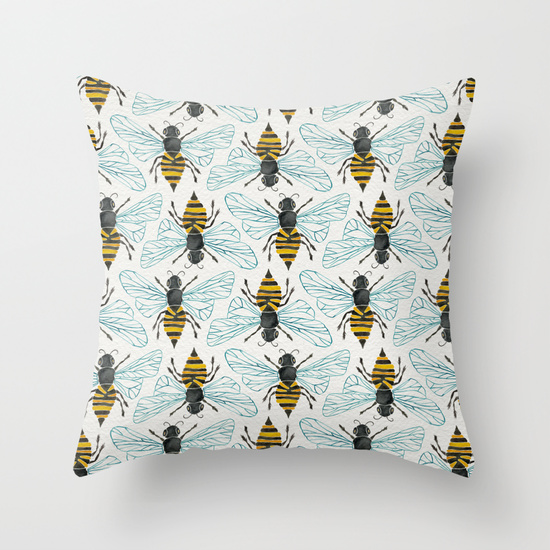 Honey Bee  •  throw pillow $20–$35