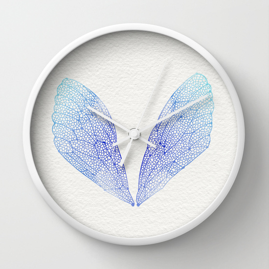 Periwinkle Ombré Cicada Wings   •  wall clock $30