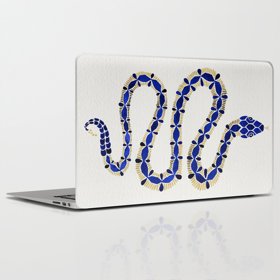 Navy & Gold Serpent   •  laptop skin $30