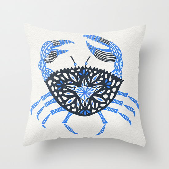 Blue Crab  •  throw pillow $20–$35