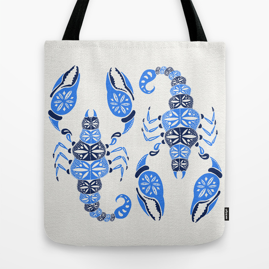 Blue Scorpion •  tote bag $18–$24