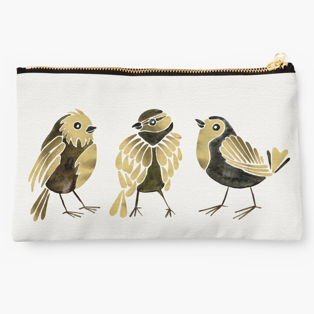 24-Karat Goldfinches  •  studio pouch $24–$26