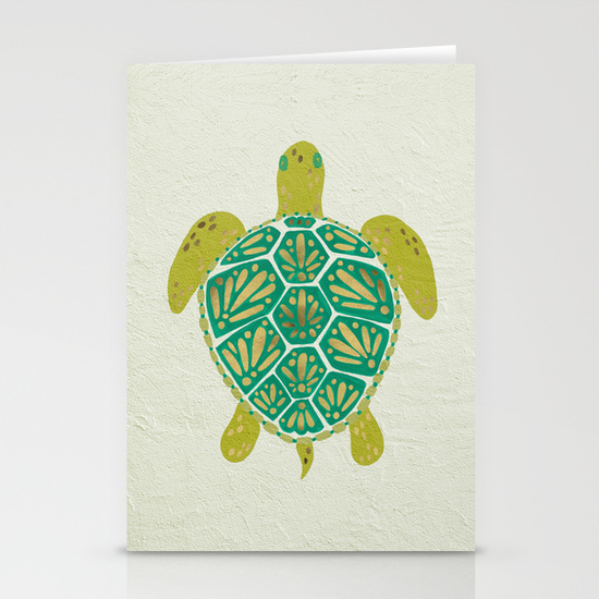 Green Sea Turtle   •  stationery card set $12–$20