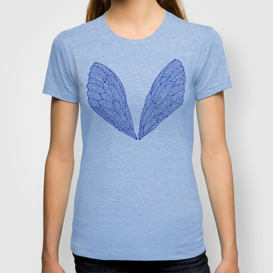 Navy Cicada Wings •  women's fitted tee $22
