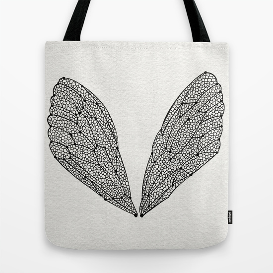 Black Cicada Wings   •  tote bag $18–$24