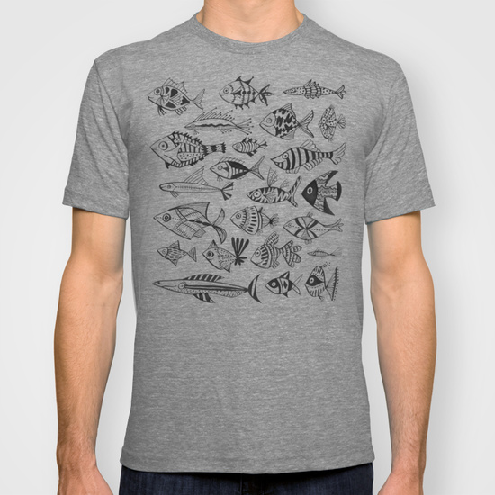 Inked Fish  •  men's fitted tee $22