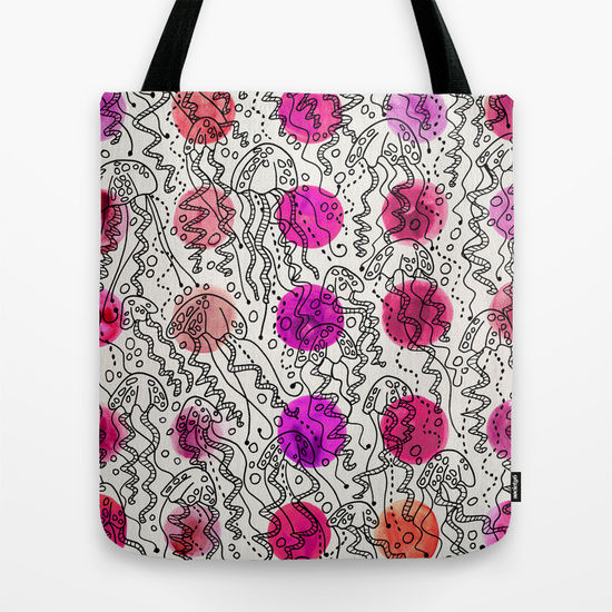 Dotty Jellyfish   •  tote bag $18–$24