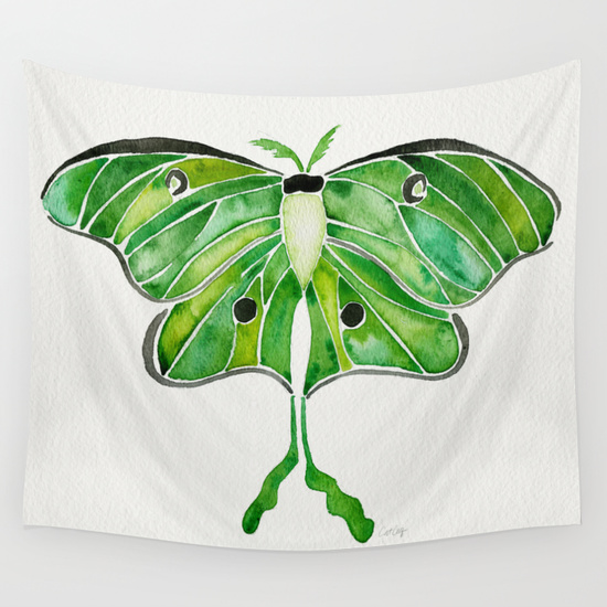 Luna Moth  •  wall tapestry $39–$79
