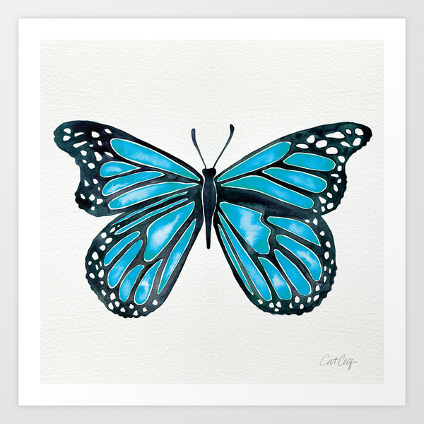 Blue Morpho Butterfly  •  art print $18–$65