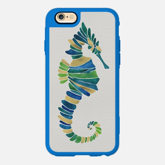 Seahorse – Watercolor & Gold  •  phone case $40