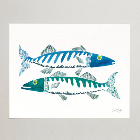 Fish Duo  •  art print $20