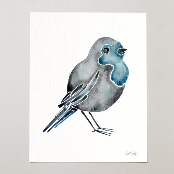 Bluebird Watercolor  •  art print $15