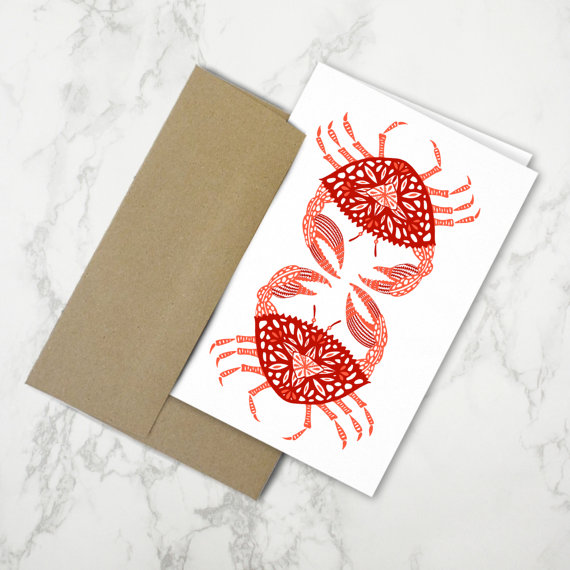 Red Crabs   •  stationery card $4.50
