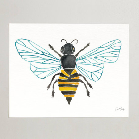 Bee Watercolor  •  art print $15