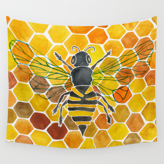 Honeybee   •  wall tapestry $39–$79