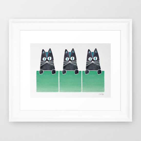 Cats in Boxes  •  framed art print $35–$135