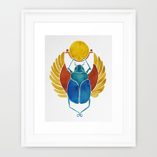 Scarab  •  framed art print $35–$135