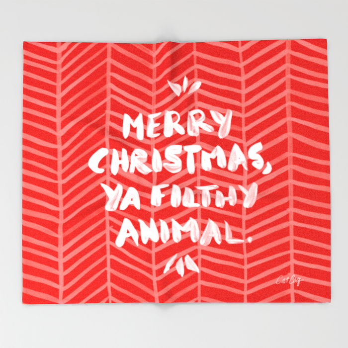 Ya Filthy Animal – Red  •  throw blanket $49–$129