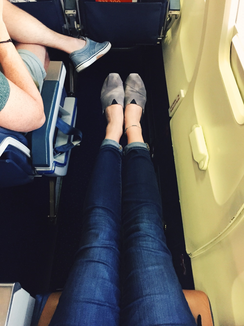 Had to share this: I scored the legroom jackpot on the flight back home!