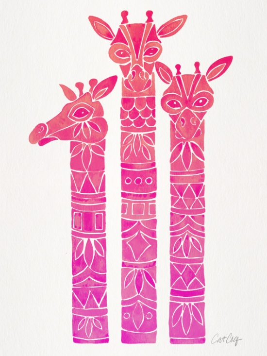 Giraffes available  here .