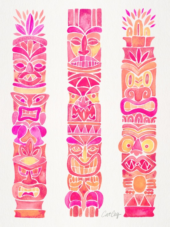 Tiki Totems available  here .