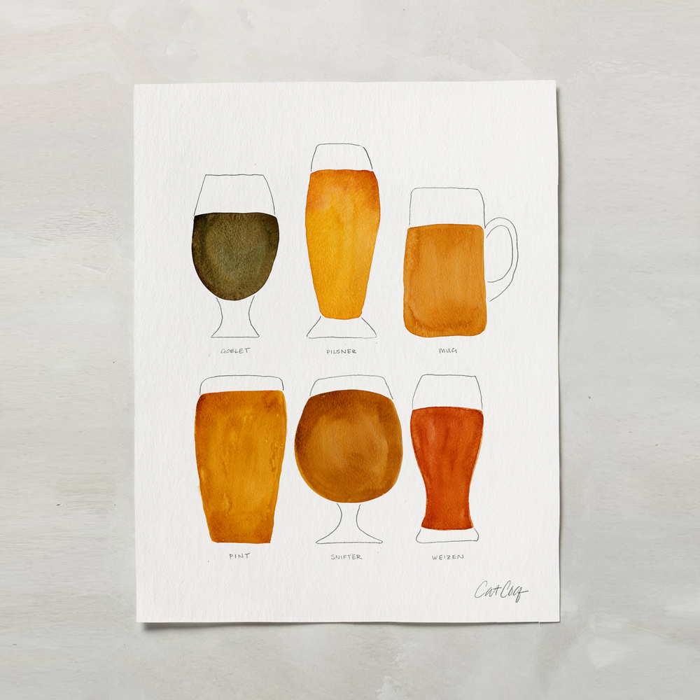 Beer Collection art print available here.