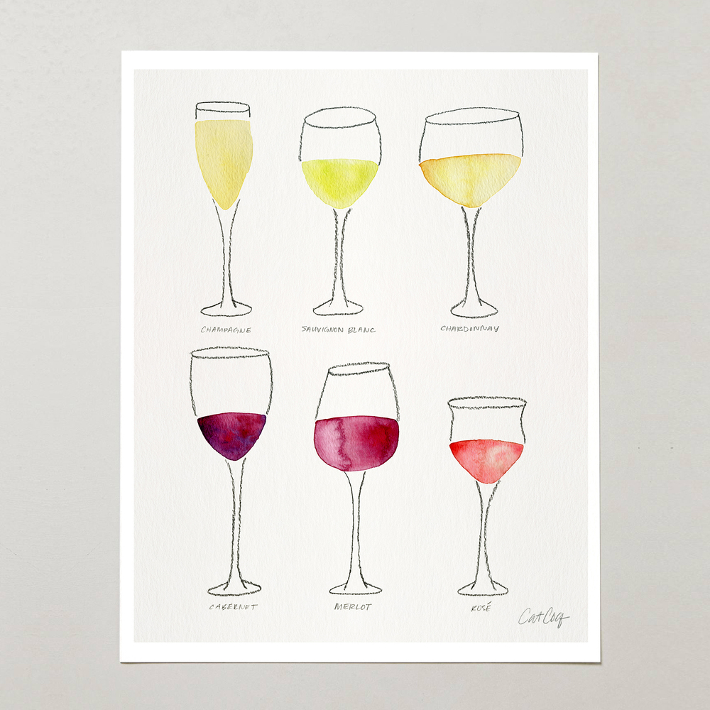 Wine Collection art print available here.