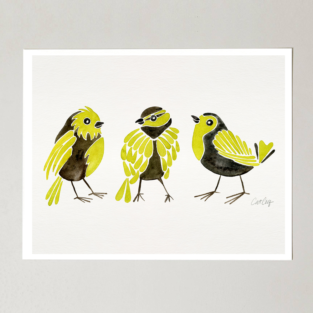 Goldfinches art print available here.
