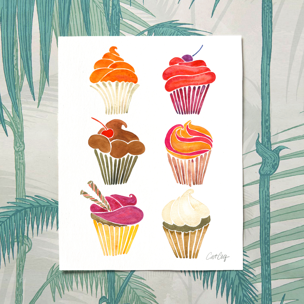Cupcakes art print available here.