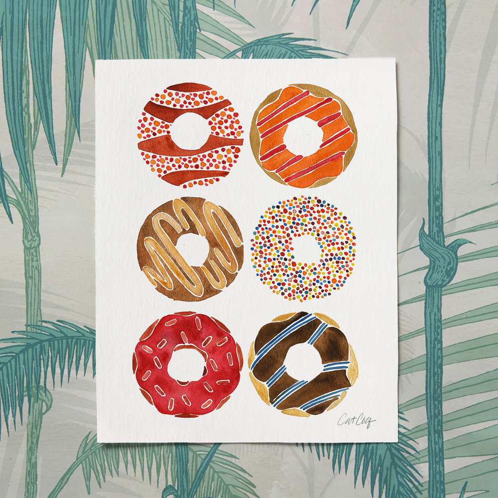 Donuts art print available here.