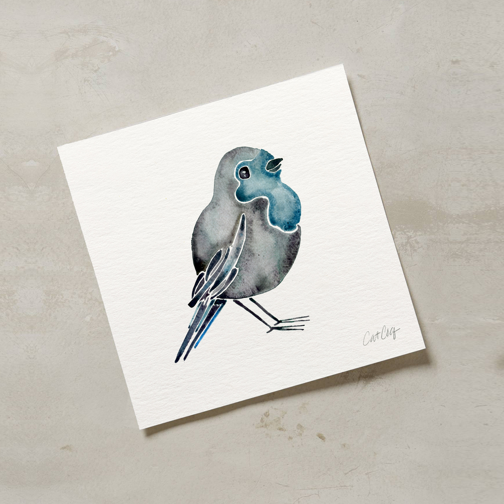 Blue Bird art print available  here .