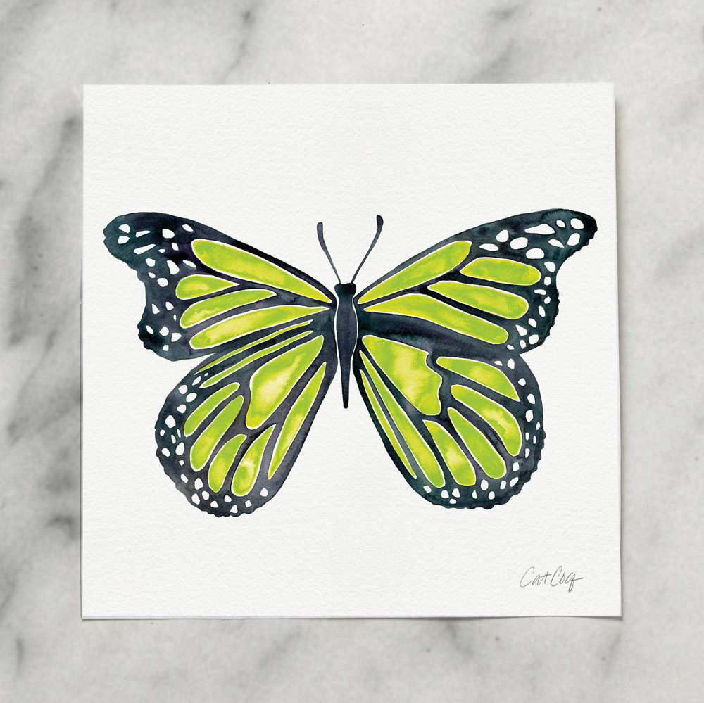 Butterfly art print available  here .