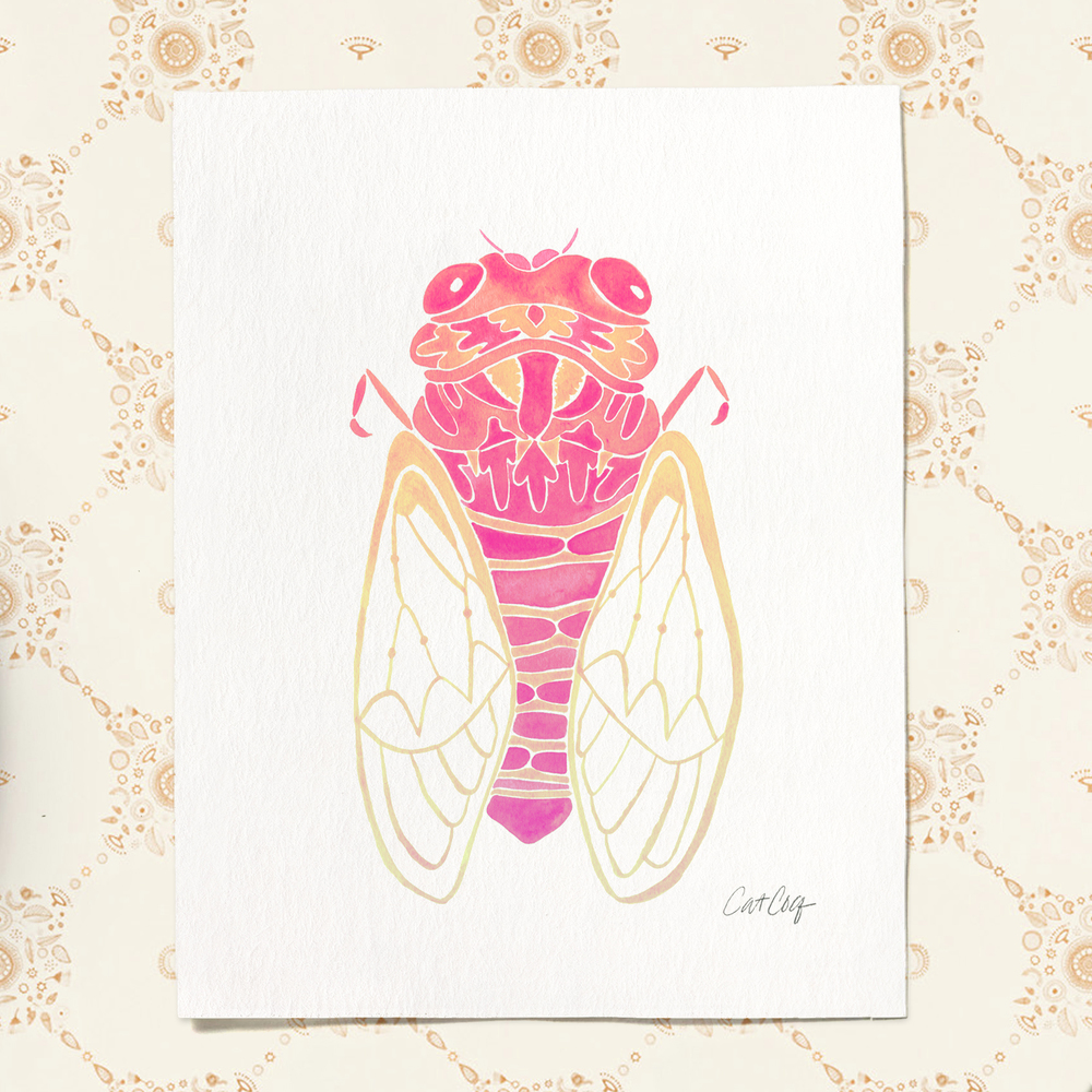 Cicada art print available  here .